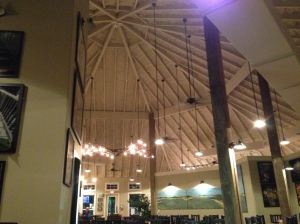 Inside the new dome at Seafood and Spaghetti Works