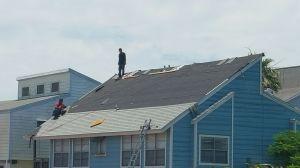 Port a roof in progress