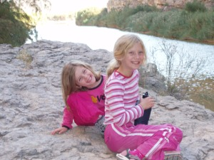 Girls at Santa Elena Canyon, Big Bend