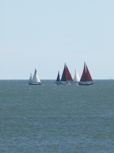 Boats heading to Port A