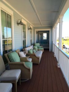 Inviting deck at the Coastal Living Showhouse in Port Aransas