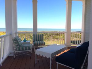 View of the Gulf of Mexico from the upper deck at the Coastal Living Showhouse in Port Aransas.