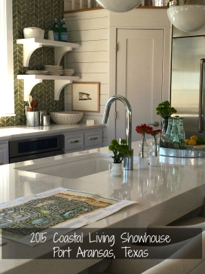 Spacious kitchen island at the 2015 Coastal Living Showhouse