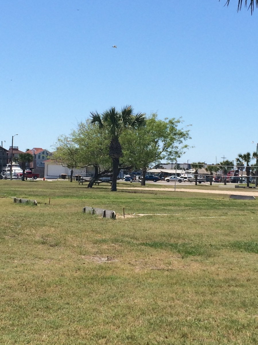 Fun and games for the whole family at Roberts Point Park in Port Aransas - horseshoes anyone?